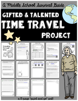 Gifted and Talented Unit - Time Travel Research and Design Project