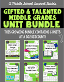 Gifted and Talented: Middle Grades Unit Bundle