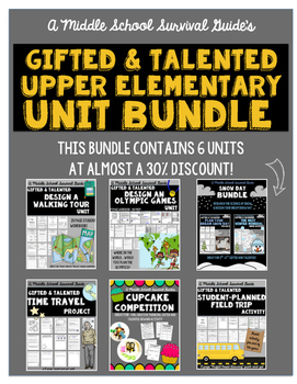 Gifted and Talented: Upper  Elementary Units Bundle