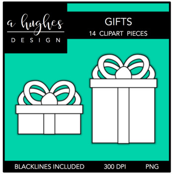 Gifts Clipart {A Hughes Design}