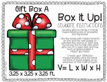 Gifts GALORE! {A Hands-On Math Project: Problem-Solving, Volume, & Budgeting}