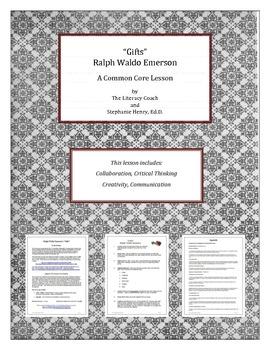 """""""Gifts"""" - Ralph Waldo Emerson - A Common Core Lesson"""