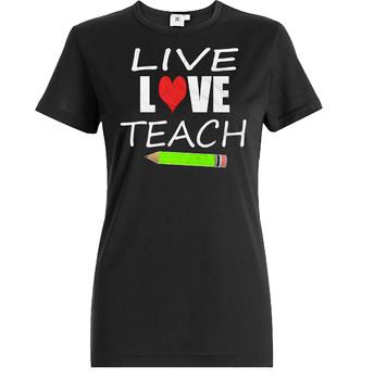 Gifts for Teacher / Live love Teach, Printable T shirt design