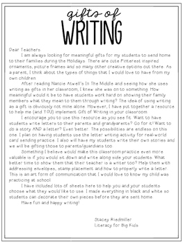 Gifts of Writing: Winter Edition