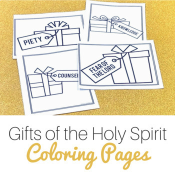 Gifts of the holy spirit matching worksheet lamoureph blog for Gifts of the holy spirit coloring pages