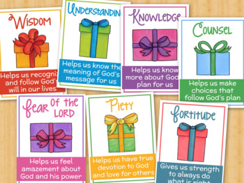 Gifts of the Holy Spirit Posters Christian/Catholic School