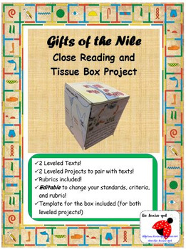 Gifts of the Nile River LEVELED Close Readings and Tissue