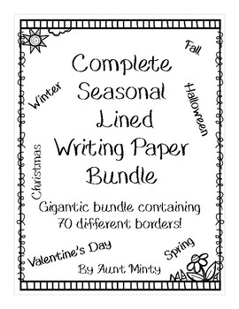 Gigantic Lined Writing Paper Bundle with Year Long Borders