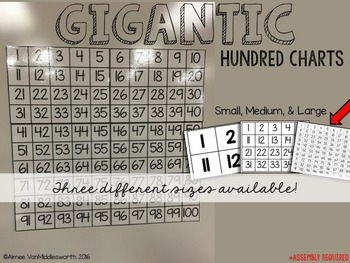 Gigantic Math Manipulatives: Hundred Charts