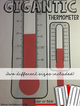 Gigantic Math Manipulatives: Thermometers