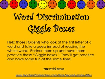 Giggle Boxes--Whole Word Reading