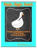 """Giggle, Giggle, Quack"" -Doreen Cronin - Vocabulary, Comprehension and Writing"