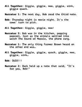 Giggle, Giggle, Quack Reader's Theater Script