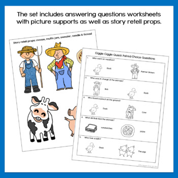 Giggle Giggle Quack Speech & Language Companion Activities