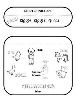 Giggle, Giggle, Quack by Doreen Cronin: Book Club K-2