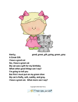 Giggle Poetry Hard And Soft C And G By Eden Perry Tpt