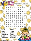 Giggly Games At The Beach Word Search Dry Erase Mat LOW PREP