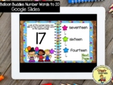 Giggly Games Balloon Buddies Number Words to 20 GOOGLE SLI