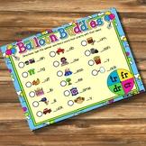 Giggly Games Balloon Buddies Beginning Blends Spinner Mat