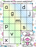 Giggly Games Bunny Buddies Missing ABCs Activity Dry Erase Mat