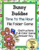 Giggly Games Bunny Buddies Time to the Hour File Folder Game