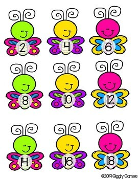 Giggly Games Butterfly Beauties Double Addition Learning Center with Worksheet