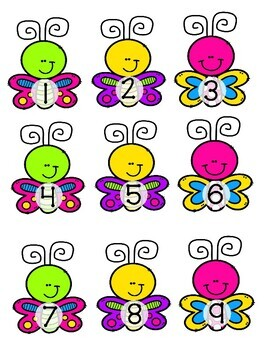 Giggly Games Butterfly Beauties Numbers to 12 Learning Center with Worksheet