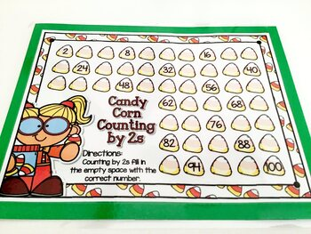 Giggly Games Candy Corn Counting by 2s Activity Dry Erase Mat
