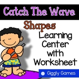 Giggly Games Catch The Wave Shapes Learning Center with Worksheet