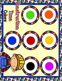 Giggly Games Construction Time Colors Matching Mat