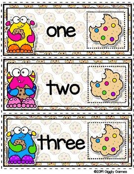 Giggly Games Cookie Critters Numbers Envelope Center