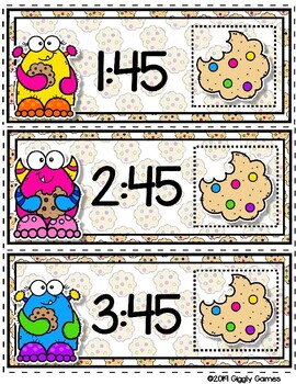 Giggly Games Cookie Critters Quarter Till the Hour Envelope Center