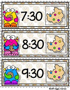 Giggly Games Cookie Critters Time to the Half Hour Envelope Center
