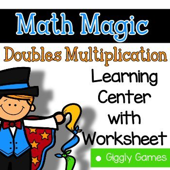 Giggly Games Math Magic Doubles Multiplication Learning Center with Worksheet