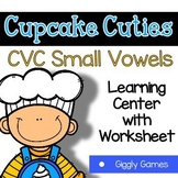 Giggly Games Cupcake Cuties CVC Short Vowel Words Learning