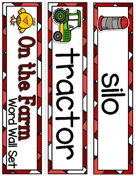 Giggly Games Down on the Farm Full-Color Word Wall Cards