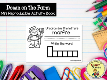 Giggly Games Down on the Farm Mini Reproducible Activity Book