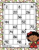 Giggly Games Fall Fun Skip Counting by 2's Dry Erase Mat LOW PREP