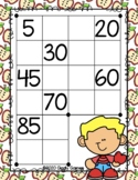Giggly Games Fall Fun Skip Counting by 5's Dry Erase Mat LOW PREP