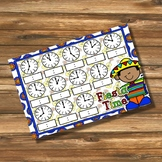 Giggly Games Fiesta Time to the Hour Clock Mat Dry Erase