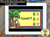 Giggly Games Fun in the Sun Contractions GOOGLE SLIDES | D