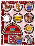 Giggly Games Down on the Farm Word/Picture Match File Folder Game