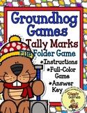Giggly Games Groundhog Games Tally Marks File Folder Game