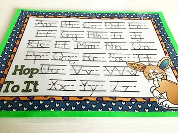 Giggly Games Hop To It Dotted Letter with Line Alphabet Practice Mat Dry Erase