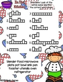 Giggly Games In The Kitchen Word Shapes Dry Erase Mat LOW PREP