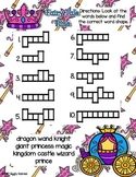 Giggly Games Fairy Tale Time Word Shapes Dry Erase Mat LOW PREP