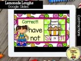 Giggly Games Lemonade Laughs Contractions Puzzle Reveal GO
