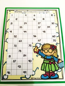 Giggly Games Number Fun Missing Numbers Dry Erase Mat LOW PREP