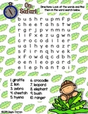 Giggly Games On Safari Word Search Dry Erase Mat LOW PREP