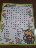 Giggly Games Planting Numbers Word Search Dry Erase Mat LOW PREP